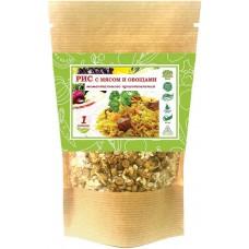 Рис с мясом и овощами моментального приготовления