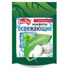 Конфеты освежающие с ментолом драже без сахара с    вит.С (дой-пак)