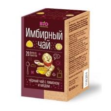 Чай имбирный черный с медом и лимоном 1,7г*20пак.