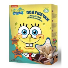 """Подушечки амарантовые """"Губка Боб"""" с шоколадной начинкой"""