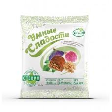 Конфеты «Умные сладости» инжир с грецким орехом в шоколадной глазури