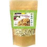 Рис с грибами со сливочным вкусом (1 порция)