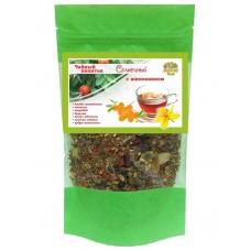 Чай Солнечный (Плоды шиповника, душица, зверобой, мелисса, ягоды облепихи, стевия)