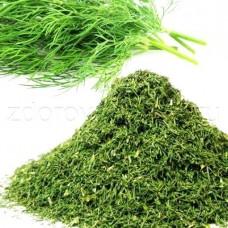 Зелень укропа сушеная 1кг п/п пакет