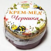 Крем-мёд цветочный с  черникой